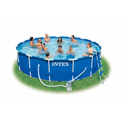Piscina intex frame rotonda h 1 00 pompa filtro a for Piscine intex 3 66